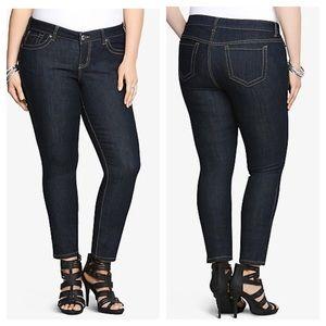 Torrid Jeans Skinny Dark Rinse Tall 24T Stretch